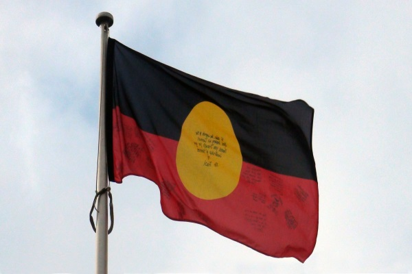 Indigenous Flag flies proudly at Isurava, Kokoda