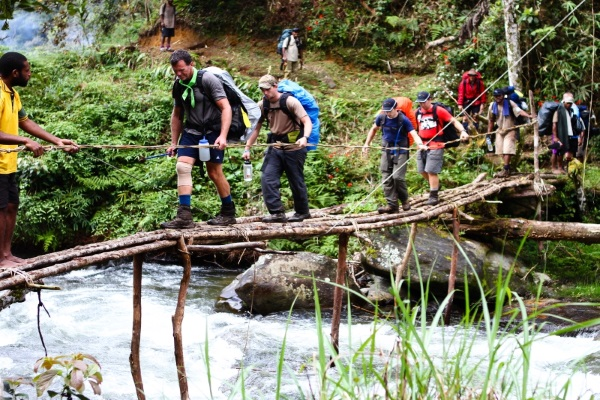 The Kokoda Track teaches participants to create goals that are in the now.